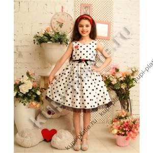 bf87875df42 Купить красивое Платье Горошек крем в интернет-магазине dress.pspx.ru