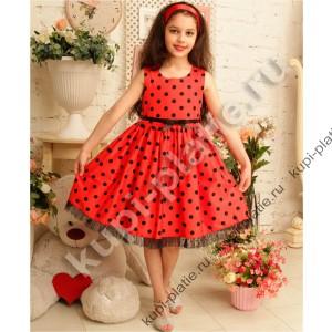 Красивое платьев горошек для девочки